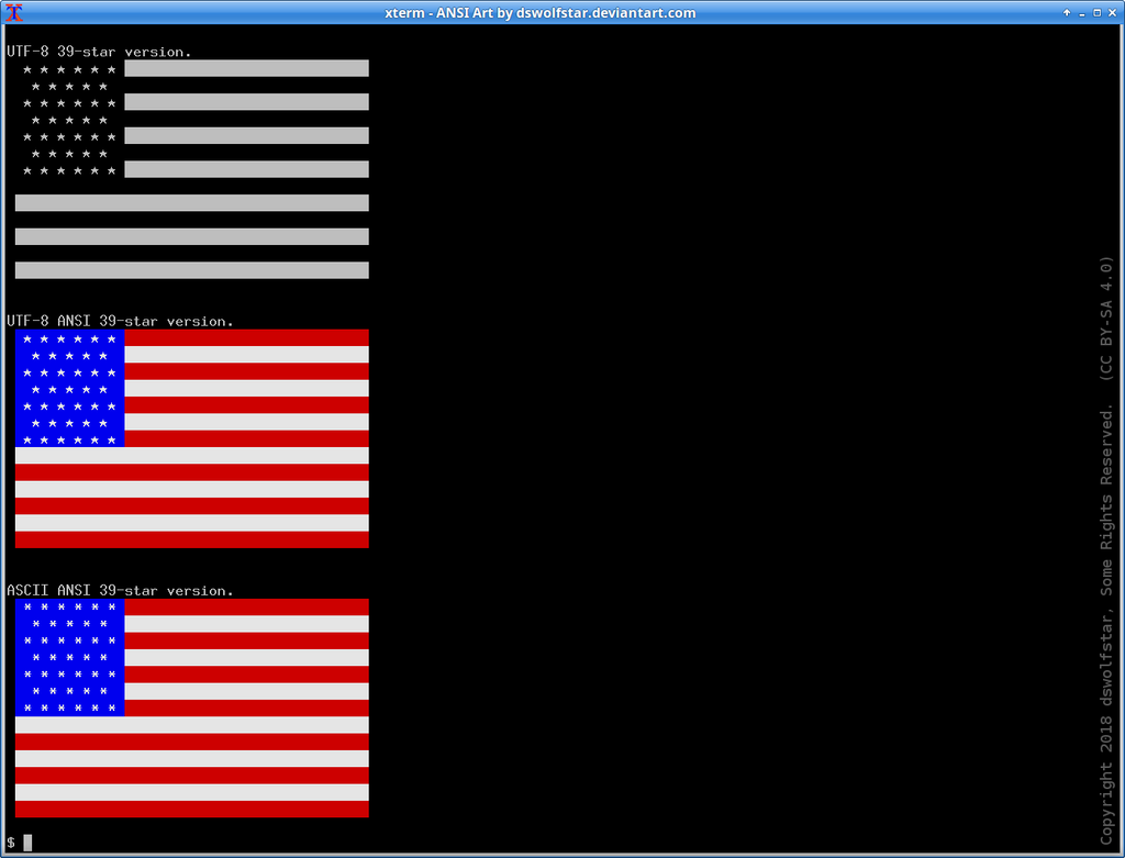 USA Flag in ANSI by dswolfstar on DeviantArt