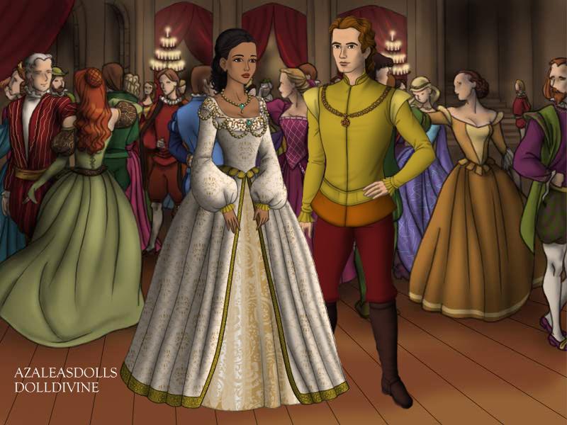 Tudors: Pocahontas and John Rolfe by moonprincess22