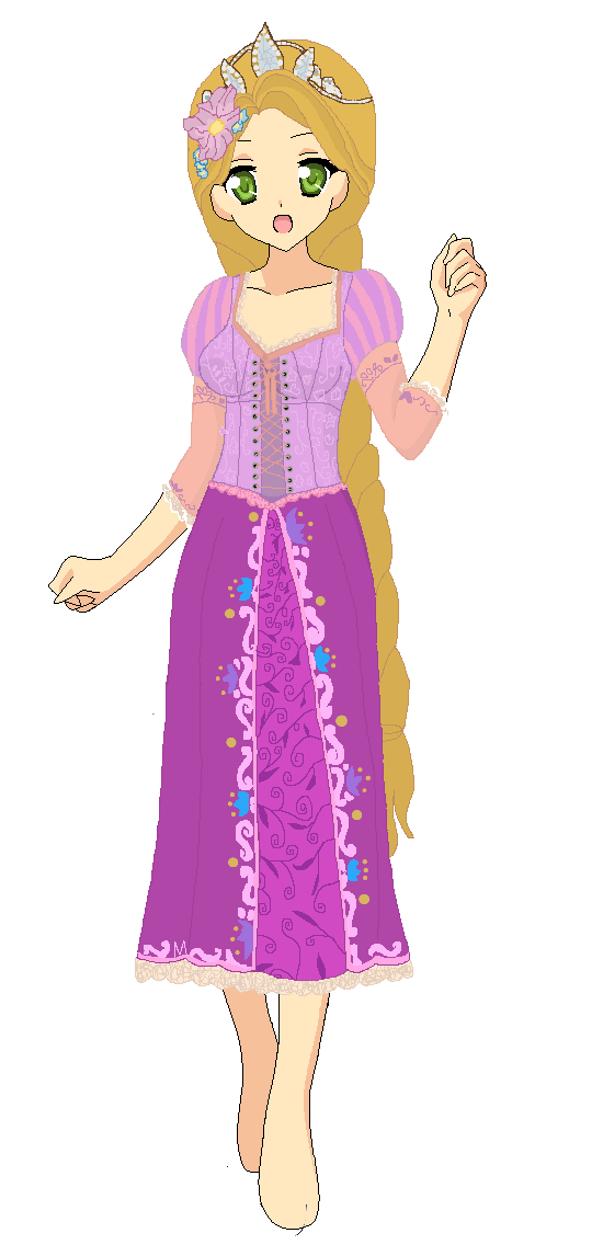 rapunzels purple dress redone braid by bananafontana on