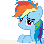Rainbow Dash Vector - 07 Tired