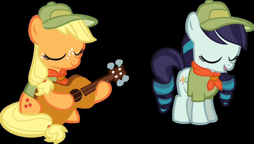 Applejack and Coloratura Vector - Singing
