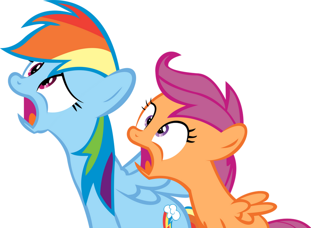 Rainbow Dash And Scootaloo Vector Shocked By Cyanlightning On Deviantart Want to discover art related to rainbowdashscootaloo? rainbow dash and scootaloo vector