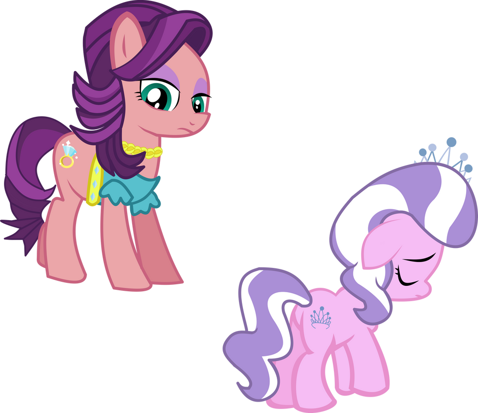 Diamond Tiara and Spoiler Rich Vector by CyanLightning