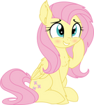 Fluttershy Vector - 25 A Little Smile