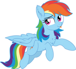 Rainbow Dash Vector 24 - Flying By