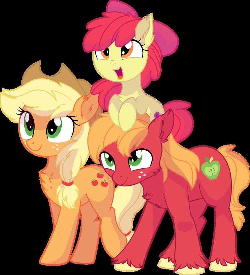 Apple Bloom, Applejack and Big Mac Vector - Family