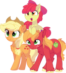 Apple Bloom, Applejack and Big Mac Vector - Family