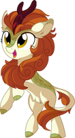 Autumn Blaze Vector 01 - Happy Kirin Noise by CyanLightning