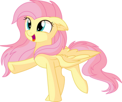 Fluttershy Vector 28 - Happy by CyanLightning