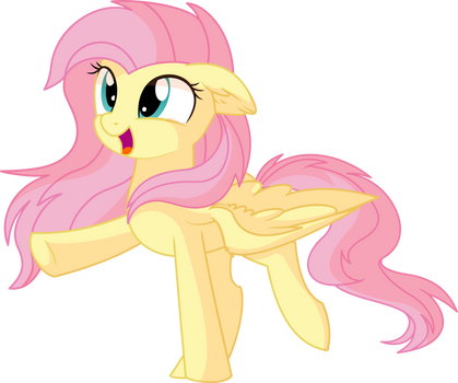 Fluttershy Vector 28 - Happy