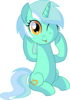 Lyra Vector 05 - Silly Lyra by CyanLightning