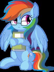 Rainbow Dash Vector 25 - NERD!! by CyanLightning