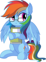 Rainbow Dash Vector 25 - NERD!! by CyanLightning