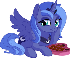 Princess Luna Vector 03 - Chocolate by CyanLightning