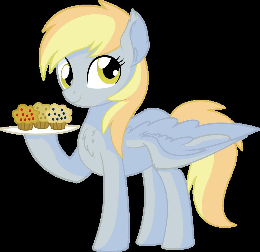 Derpy Vector 04 - Muffins by CyanLightning