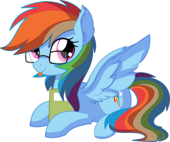 Rainbow Dash Vector 26 - Lovely Nerd by CyanLightning