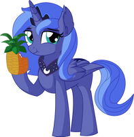 Princess Luna Vector 04 - Pineapple by CyanLightning