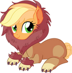Applejack Vector 23 - Rawr by CyanLightning