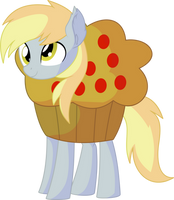 Derpy Vector 05 - Muffin Costume by CyanLightning