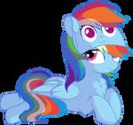 Rainbow Dash Vector 27 - Rainbow Hat by CyanLightning
