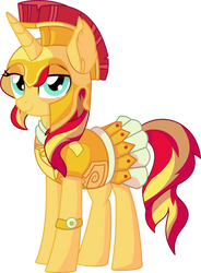 Sunset Shimmer Vector 02 - Athena by CyanLightning