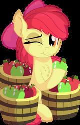 Apple Bloom Vector 18 - Eating Apples by CyanLightning