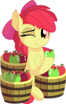 Apple Bloom Vector 18 - Eating Apples by CyanLightning