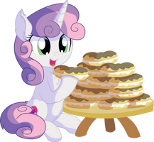 Sweetie Belle Vector - 22 Eclairs by CyanLightning