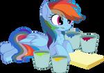 Rainbow Dash Vector 28 - Paint