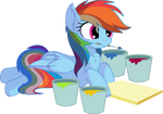 Rainbow Dash Vector 28 - Paint by CyanLightning