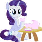Rarity Vector 29 - Marshmallow Choco by CyanLightning