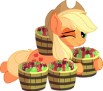 Applejack Vector 24 - So Many Apples by CyanLightning