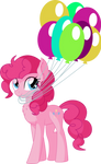 Pinkie Pie Vector 28 - Balloon by CyanLightning