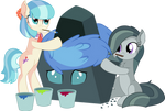 Coco Marble and Ocellus - Rock Dressing by CyanLightning