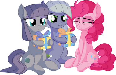 Pinkie Maud and Limestone - Presents by CyanLightning