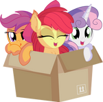 Cutie Mark Crusaders in a Box by CyanLightning