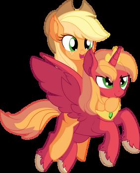 Applejack and Big Mac - Royal Ride