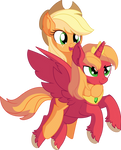 Applejack and Big Mac - Royal Ride by CyanLightning