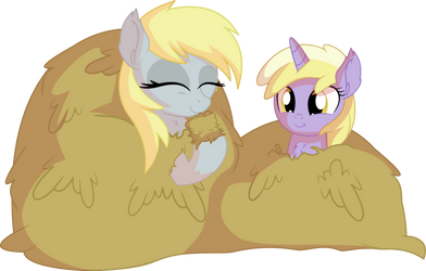 Derpy and Dinky - Hay
