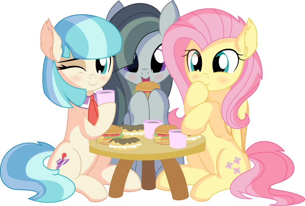 fluttershy_coco_pommel_and_marble_pie___