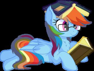 Rainbow Dash Vector 29 - Books by CyanLightning