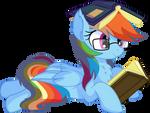 Rainbow Dash Vector 29 - Books