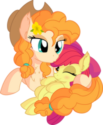 Pear Butter and Apple Bloom - Mother's Love by CyanLightning