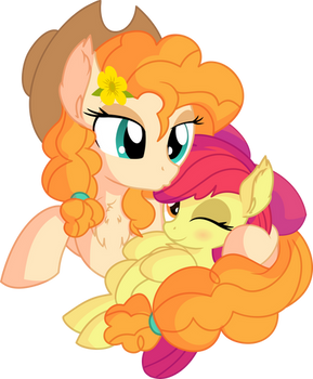 Pear Butter and Apple Bloom - Mother's Love