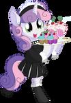 Sweetie Belle Vector 24 - Cupcakes and Milkshakes by CyanLightning