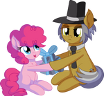 Pinkie Pie and Igneous Rock - Present for Daddy