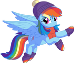 Rainbow Dash Vector 33 - Winter Outfit by CyanLightning