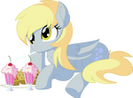 Derpy Vector 08 - Muffins and Milkshakes