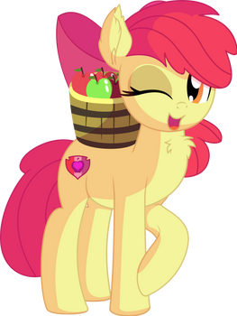 Apple Bloom Vector 22 - Apple Bucket
