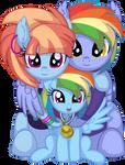 Rainbow Dash's Family Vector - Gold Medal by CyanLightning